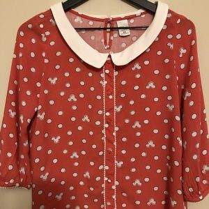 Disney mini mouse cute blouse XS